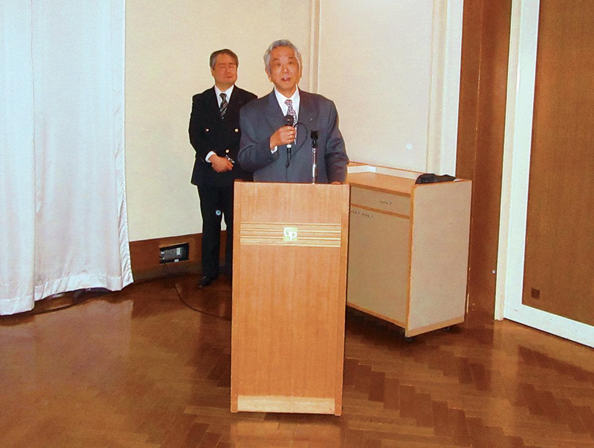 伊藤太一理事長の開会の挨拶
